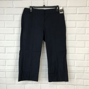 NYC Capris Navy Blue City Stretch Crop Slim Leg